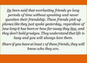 This is lifelong friendship...