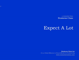 Quote of the Week: Expect A Lot