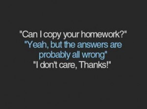 funny homework quotes