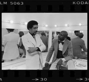 latimes:Richard Pryor and Lou Gossett backstage at the Shrine ...