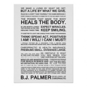 Epigrams & Quotes from B.J. Palmer Print