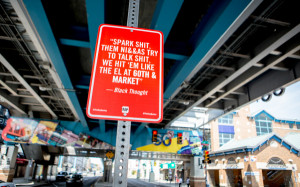 Rap Quotes Street Signs Go Up in Philly (GALLERY).