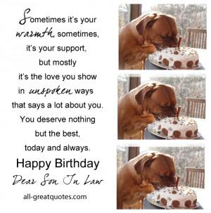 happy birthday dear son in law free birthday cards for son in law ...