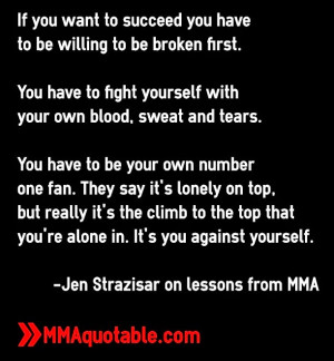 Jen Strazisar on lessons from MMA