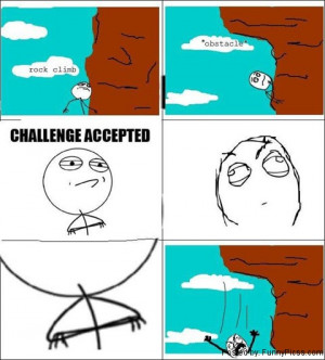 Funny Rock Climbing Cartoon Rock climbing rage
