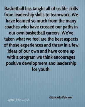 Giancarlo Falcioni - Basketball has taught all of us life skills from ...