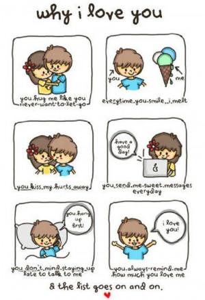Why I love you.
