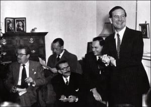 Kim Philby at his press conference at Drayton Gardens