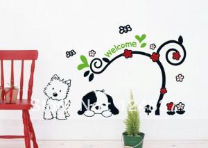 50cm*70cm cute dogs stickers