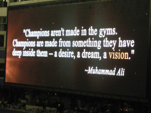 Love this quote that kicked off a great video montage.
