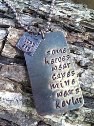 Kevlar necklace police officer quote necklace by MotherhoodJourney, $ ...