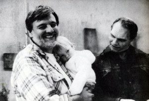 George-A.-Romero-on-set-with-his-daughter-and-the-curious-Sherman ...