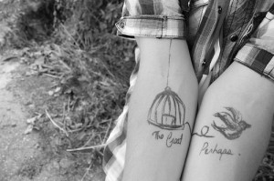 bird, cute, drawing, free, freedom, photo, photography, tattoo
