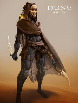 Dune Character Faction Designs by Bruno Gauthier Leblanc