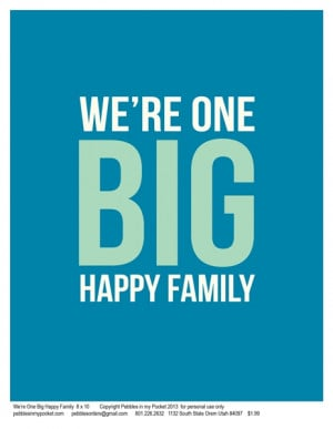 Happy Family Images Quotes Family quotes: we're one big