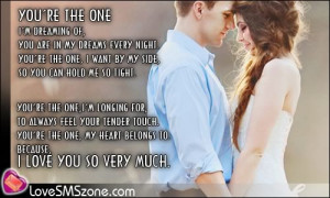 Love Quotes – You're the one