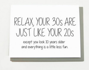 30th Birthday Funny Quotes For Women Funny birthday card - 30th