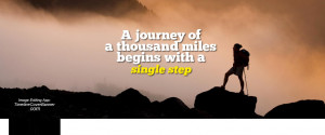 Quotes: Long journey start from single step Facebook cover