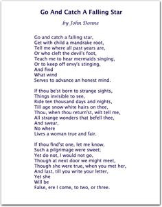 John Donne. Great poem, and it reminds me: HOWLS MOVING CASTLE More