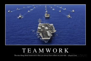 Teamwork: Inspirational Quote and Motivational Poster Photographic ...