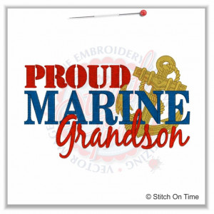 5160 Sayings : Proud Marine Grandson 5x7