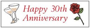 Happy 30th Wedding Anniversary!!