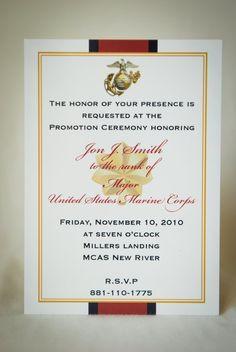 Marine Officer Retirement Invitation / by starsandstripe on Etsy