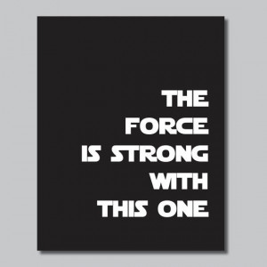 Star Wars Inspirational Quote Print by RhondavousDesigns2 on Etsy, $10 ...