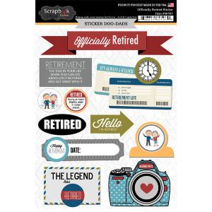 Scrapbook Customs - Retirement Collection - Cardstock Stickers - Happy ...