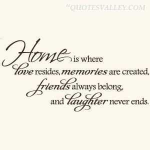... is-where-love-resides-memories-are-creathed - Home Quotes and Sayings