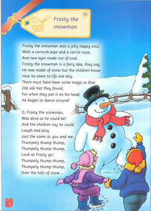 Candid image within frosty the snowman lyrics printable