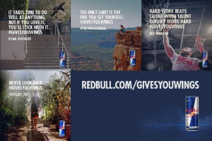 ... of four professional athletes quoted in a new Red Bull ad. Red Bull
