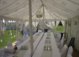 Party: One of the tents where William and Kate and their fellow guests ...