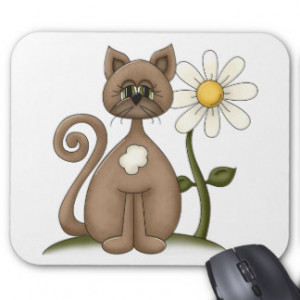 Daisy May the Kitty Cat Mouse Pads