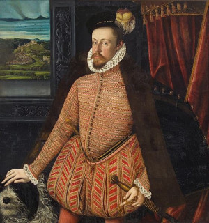portrait of Archduke Charles (and his dog!) from 1569. Unknown ...