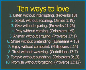 Ten Ways To Love- From the Bible