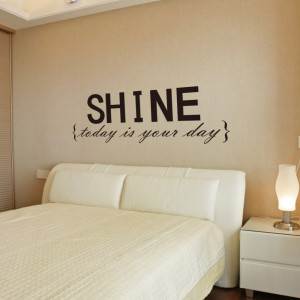 Stickers Quotes Shine Wall Letters Decor Removable Wall Decals Quotes ...