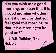 ... in the ground there lived a hobbit. - hand embroidered The Hobbit