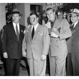 ... Abbott, Lou Costello and George Jessel 1958 Frank Worth Lithograph