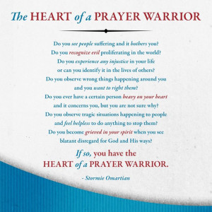the of a prayer warrior