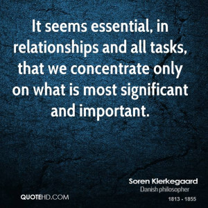 Soren Kierkegaard Dating Quotes