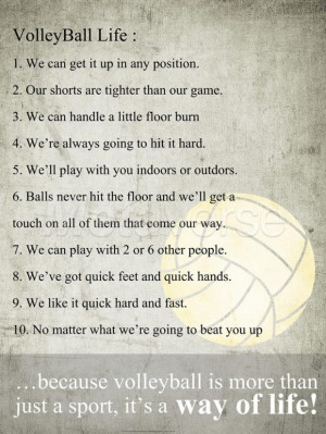 Funny quotes pictures short volleyball sayingsvolleyball pictures with ...