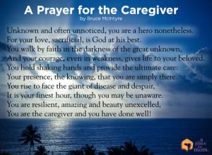 Poem: A Prayer for the Caregiver