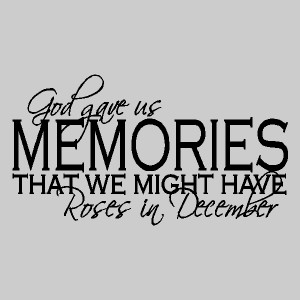 gove gave us memories wall quotes wall sayings wall decals