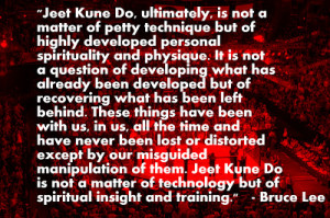 Bruce Lee on Spiritual Insight and Training