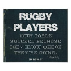 ... with Goals Succeed in Denim > Poster with rugby #quote for motivation