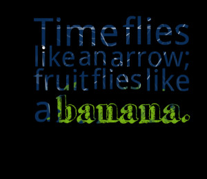 Quotes Picture: time flies like an arrow; fruit flies like a banana