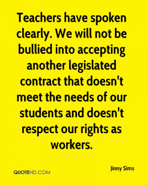 Teachers have spoken clearly. We will not be bullied into accepting ...