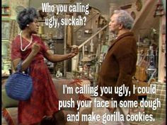 Fred Sanford and Aunt Esther this is totally like me and my sister ...