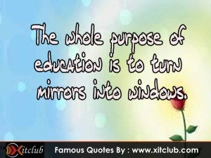 You Are Currently Browsing 15 Most Famous Education Quotes